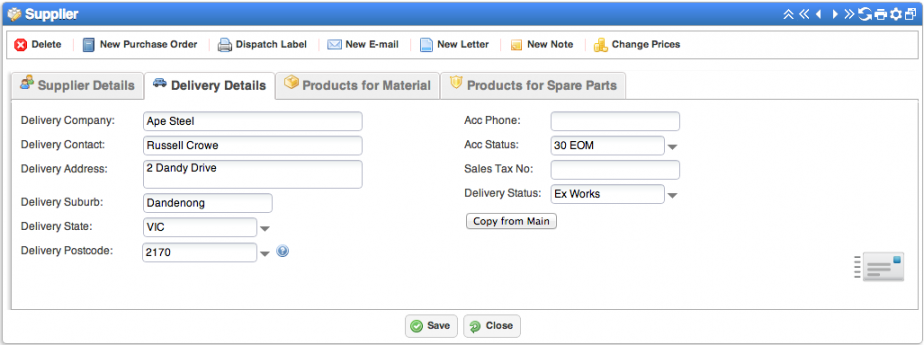 laserquote supplier screen2